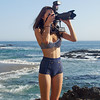 Bikini Swimsuit Model Shooting Simultaneous Stills & Video with a Nikon D800 E & Camcorder : Pretty Asian Bikini Swimsuit Model Shooting Simultaneous Stills & Video with a Nikon D800 E & Camcorder