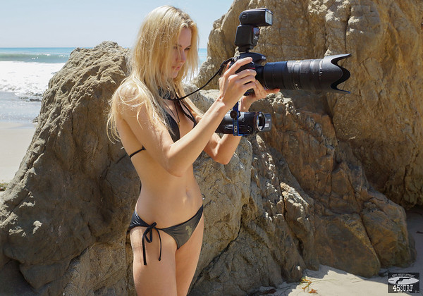 Goddess Shooting Stills & Video @ the Same Time  with a Nikon D800E & Camcorder