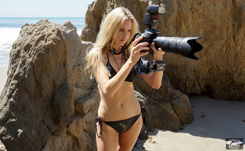 Goddess Shooting Stills & Video @ the Same Time 