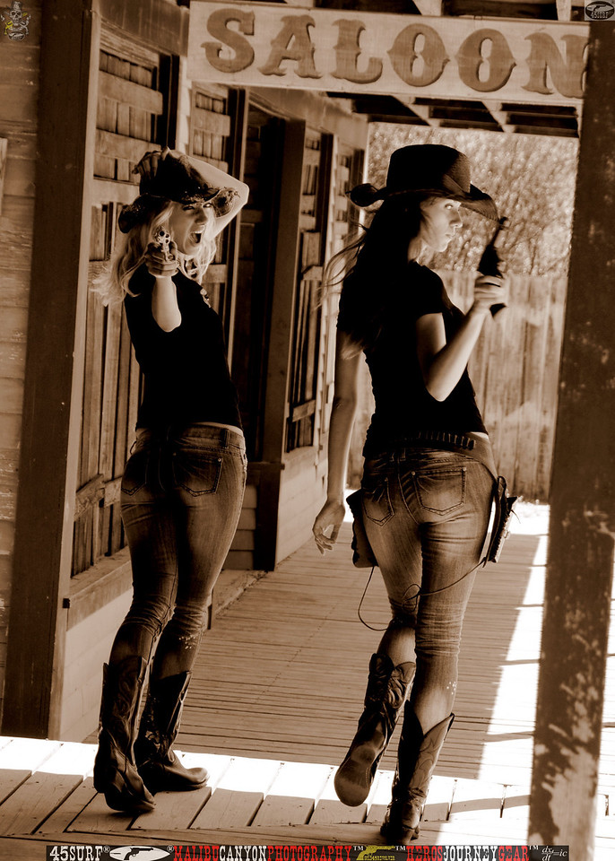 Two Cowgirl Models